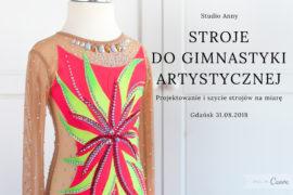 Strój startowy do gimnastyki artystycznej Rozmiar 140-146