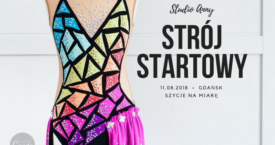 Strój startowy do gimnastyki artystycznej Rozmiar 116-122